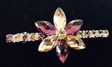 Austrian Crystal Flower Hair Clip Barrette Hairpin Clamp Hair Pin