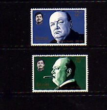 BRUNEI - 1974 - SIR WINSTON CHURCHILL - 2 X MINT SET!