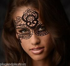 The Enchanted Black Lace Mask Costume Victorian Masquerade Ball Prom Halloween