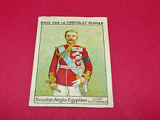SOUDAN ANGLO-EGYPTIEN KITCHENER RARE CHROMO CHOCOLAT PUPIER ALBUM AFRIQUE 1938