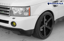 20x11 +45 Rohana RC22 5x120 Black Wheel Fit Land range rover sport 2010 5x4.75