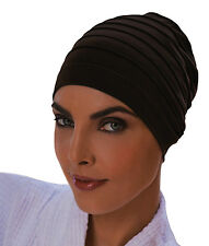 Fashy Ladies Yoga Exercise Cap Hair Turban - BROWN - Chemo Hats & Hairloss Caps