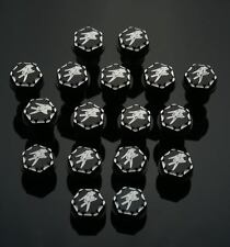 17 pc Hayabusa Black/Silver Engraved Ball Cut 3D Hex Fairing Bolt 08-09-12-15-16
