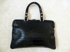 CHIC MINIMALISM!2.380£!LTD EDITION ROBERTA DI CAMERINO REPTILE LEATHER HANDBAG