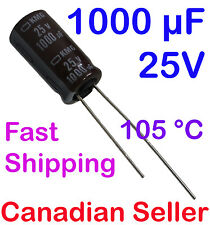 5pcs 1000uF 25V 10x20mm 105 °C Nippon UNITED CHEMICON For LCD TV AUDIO DVD TFT