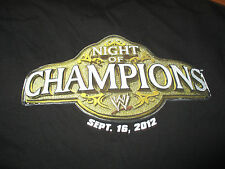 Rare WWE CREW September 16, 2012 NIGHT OF CHAMPIONS (XL) T-Shirt ZACK RYDER