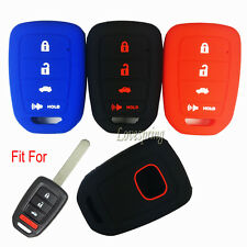 Silicone 4 Buttons Key Fob Case Cover Keyless Entry for HONDA CIVIC Accord CR-V