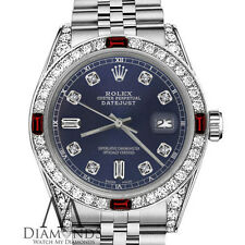 Women's Rolex 31mm Datejust NavyBlue Color Dial with Ruby & Diamond Accent Watch