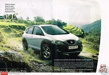 Publicité advertising 2007 (2 pages) Seat Altea Freetrack 4X4 TDI