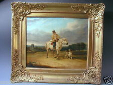 ANTIQUE 19TH CENTURY ENGLISH NORWICH SCHOOL OIL PAINTING 'EDWIN COOPER'