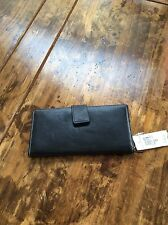 womens wallets/Ann Taylor Black Leather Fold Wallet