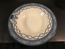 "Queen's China Historic Royal Palaces 9"" Rimmed Soup Bowl Blue & White"