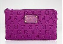 Authentic MARC BY MARC JACOBS Violet Dreamy Logo Neoprene Pouch