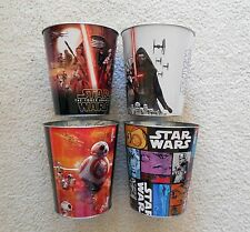 STAR WARS THE FORCE AWAKENS Pop Corn Tin Buckets Set of 4 NEW Hard to Find