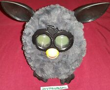 2012 Furby Boom Grey Gray Black Inactive Toy Talks Moves Digital Eyes