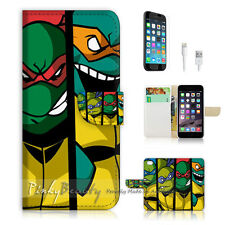 "iPhone 6 Plus (5.5"") Print Flip Wallet Case Cover! Ninjia Turtle TMNT P1372"
