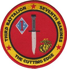 USMC 3rd Battalion 7th Marine Regiment 1st Marine Division Patch