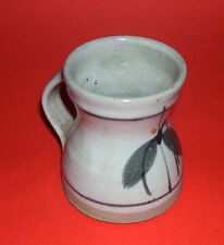 Healy Pottery Studio Pottery - Attractive Mug / Tankard With Muted Leaf Design.
