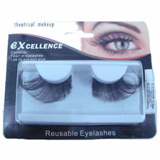 Eyelashes Black Feather Jumbo Reusable Eye Lashes Drag Queen Fancy Dress