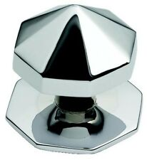 Large Polished Chrome Octagonal Centre Pull Door Knob / Handle (BC12B)