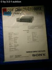 Sony Service Manual CDX C8000R / C8000RX (#5057)