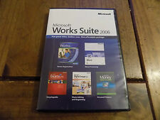 Microsoft works suite 2006 pc-cd rom