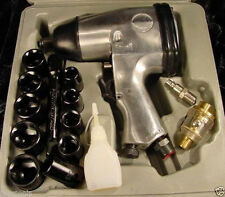 "17pc. 1/2"" Dr AIR IMPACT WRENCH KIT tool new socket oil"