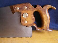 "DISSTON No.7  RIP PANEL HAND SAW   5 1/2 tpi  24""  FRESHLY HAND SHARPENED"