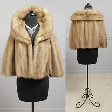 Vintage 60s Emba Autumn Haze Mink Large Shawl Collar Mink Fur Jacket M