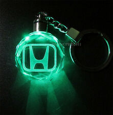 Car Logos LED night Light changing crystal Key Chain Keychain Keyfob for Honda