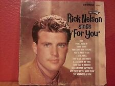 "Rick Nelson Sings ""For You"" LP Decca DL 74479 Stereo"