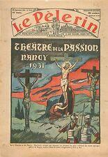 Affiche Théâtre de la Passion Jesus Christ Croix Nancy Lorraine Pâques 1931