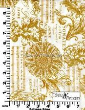 French Filigree Music Fabric F934 Michael Miller BY THE HALF YARD