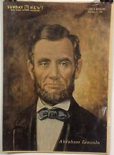 Abraham Lincoln Insert Cover from New York's Picture Newspaper - Feb. 6, 1955