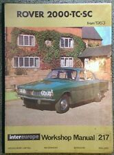 Rover 2000 tc, sc (depuis 1963) workshop manual