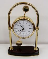 "SETH THOMAS BRASS MANTLE CLOCK MODEL # 512 ""WENTWORTH"""
