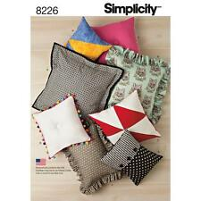 SIMPLICITY SEWING PATTERN EASY PILLOWS CUSHIONS 8226