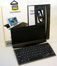 NEW ZaggKeys Universal Tablet Bluetooth Folio Keyboard Stand iPad 2/3/4/Air zagg