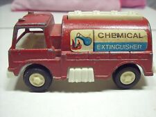 Vintage Tootsie Toy 1970 Chemical Extinguisher Red Fire Truck Engine
