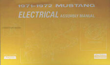 1971 1972 Ford Mustang Electrical Wiring Assembly Manual Grande Mach I Boss