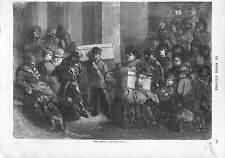 SCENE AMBIANCE DE GARE SALLE D'ATTENTE PAR HENRY MONNIER  1873