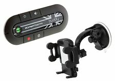 SuperTooth Buddy 2.1 Handsfree Bluetooth Visor Car Kit with In-Car Phone Hold...