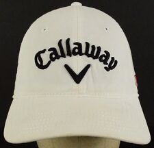 Callaway V Embroidered Letters White Baseball Hat Cap with Strap Adjust