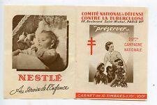 STAMP / TIMBRE VIGNETTE / CARNET PUBLICITAIRE 1955 / ANTITUBERCULEUX