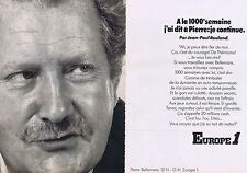 PUBLICITE ADVERTISING 015 1975 EUROPE1 Pirre Belmarre (2 pages)