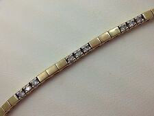 "GORGEOUS 14K YELLOW GOLD DIAMOND BRACELET ""7"