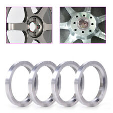 New 4Pcs Silver Aluminum Centric Rings 73.1mm to  59.1mm Wheel Bore Centering