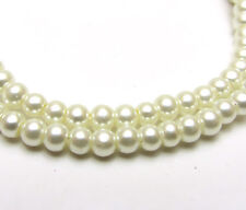 3MM/4MM/6MM/8MM/10MM/12MM Glass Pearl Czech Round Loose Spacer Beads Milk White