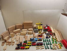 THOMAS BRIO IKEA LITTLE TREE WOOD TRAIN TRACK & ACCESSORIES LOT 198 PCS