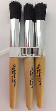 5/8 Stencil Brushes Lot of 3 Natrual Bristle Stipple Brush by Plaid